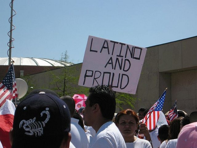 Protestor Latino and Proud