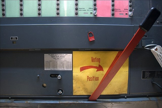 Voting Booth Lever Old Version