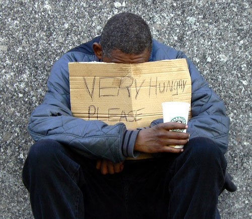 Inconvenience of Homelessness Hungry