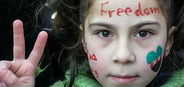 Syria Kid Freedom Face Paint Colors Peace Violence Targets Syria Civilians