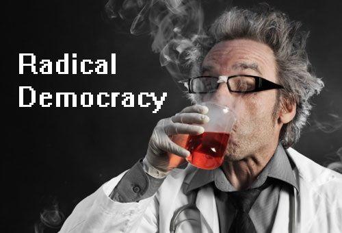 radical democracy scientist beeker graphic