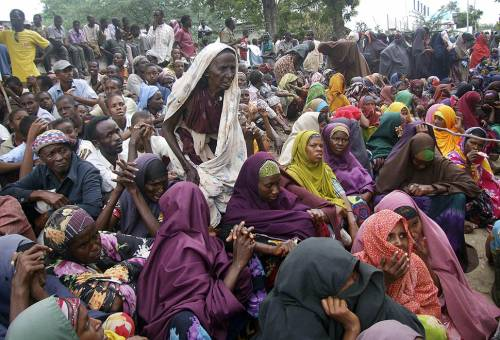 Somalis who fled from southern Somalia Dubious Alms