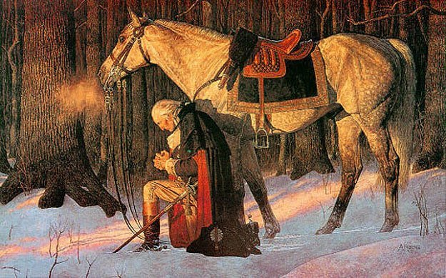 Fighting for democracy. George Washington at Valley Forge