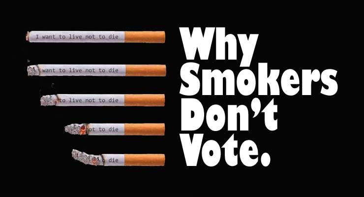 Smokers Vote Less