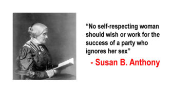 We Are Celebrating Suffragette Susan B. Anthony On President's Day
